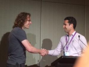 Ben receiving CRCSI award